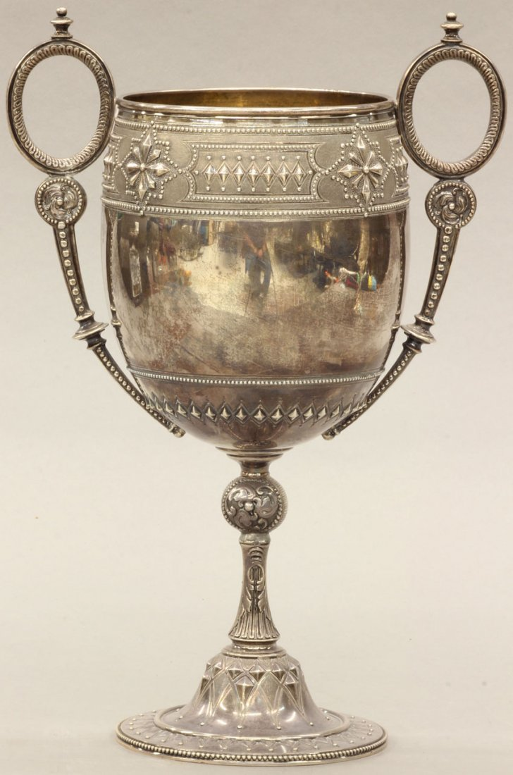 15: EARLY 19TH CENTURY ENGLISH COIN SILVER CUP height-