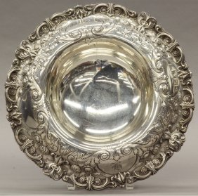"STERLING SILVER COMPOTE Diameter- 12 3/4"" Weight- 3"