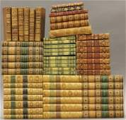 148: GROUPING OF EARLY LEATHER BOUND BOOKS circa 18th-l