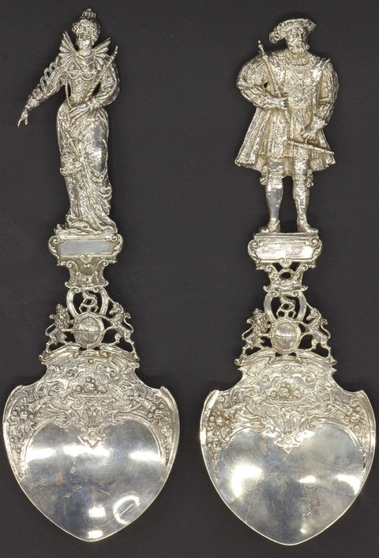 1000: SET OF (2) STERLING SILVER ENGLISH PRESENTATION S