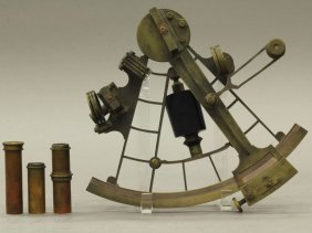 1014: EARLY 19TH CENTURY BRASS SEXTANT signed David Sta