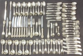 1016: REED AND BARTON STERLING SILVER FLATWARE total pc
