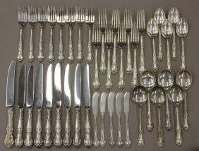 1017: GORHAM STERLING SILVER FLATWARE total pcs- 41 wei