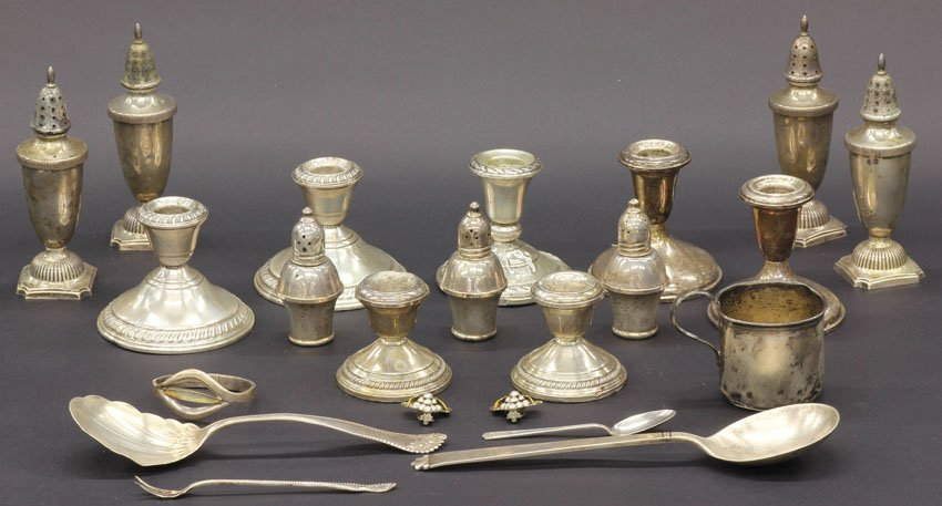 1018: LOT OF (21) MISC. STERLING SILVER ITEMS includes