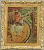 1040: FRENCH PAINTING OF CAROUSEL signed Henri Matisse