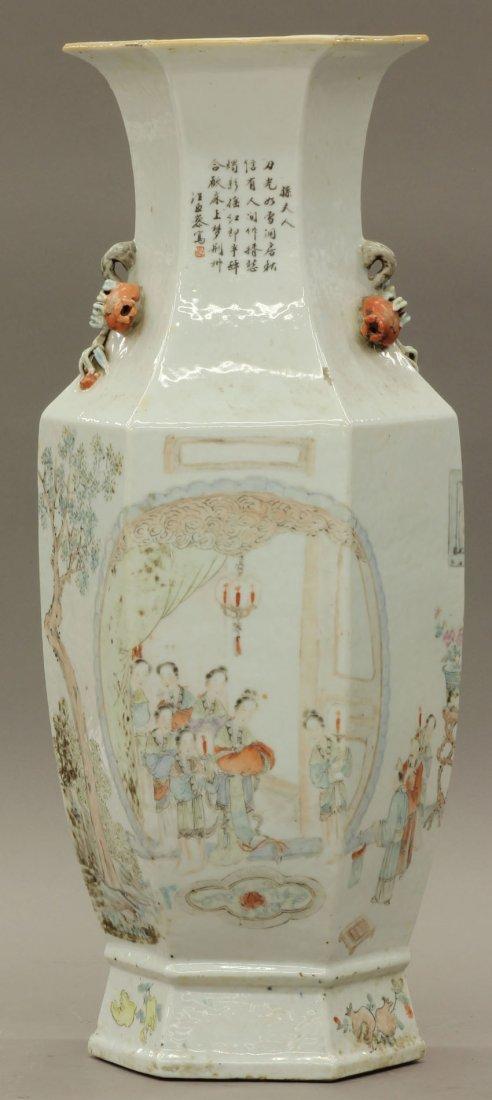 1161: VINTAGE CHINESE PORCELAIN VASE with paint decorat