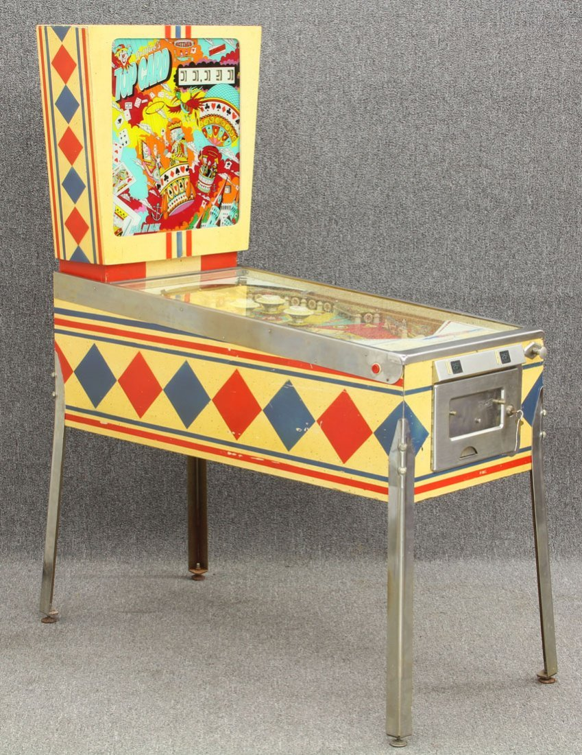 D GOTTLIEB VINTAGE PINBALL MACHINE Top Card