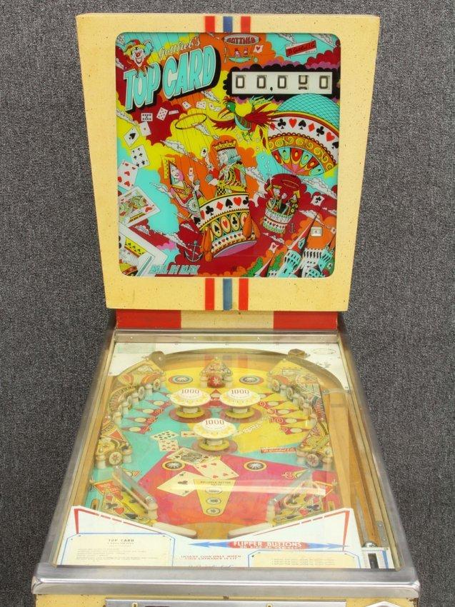 top card pinball machine