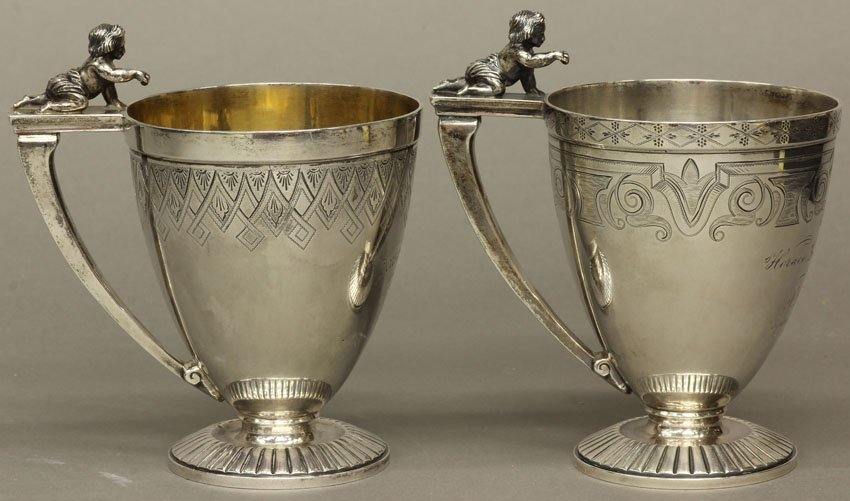 LOT OF (2) STERLING SILVER PRESENTATION CUPS weight- 13