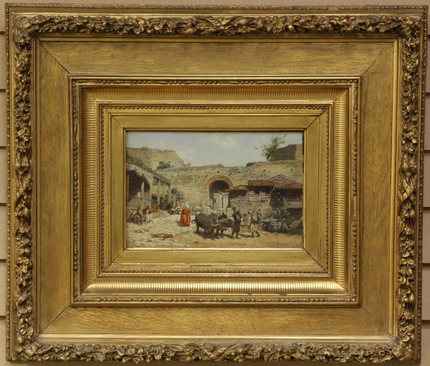 RUDOLF OTTO VAN OTTENFELD (1856-1913)  INTERIOR COURT S