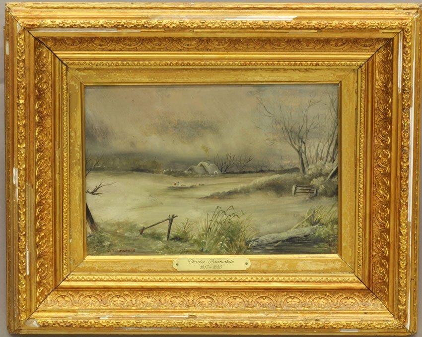CHARLES BRANWHITE (1817-1880) OIL ON CANVAS Winter Land