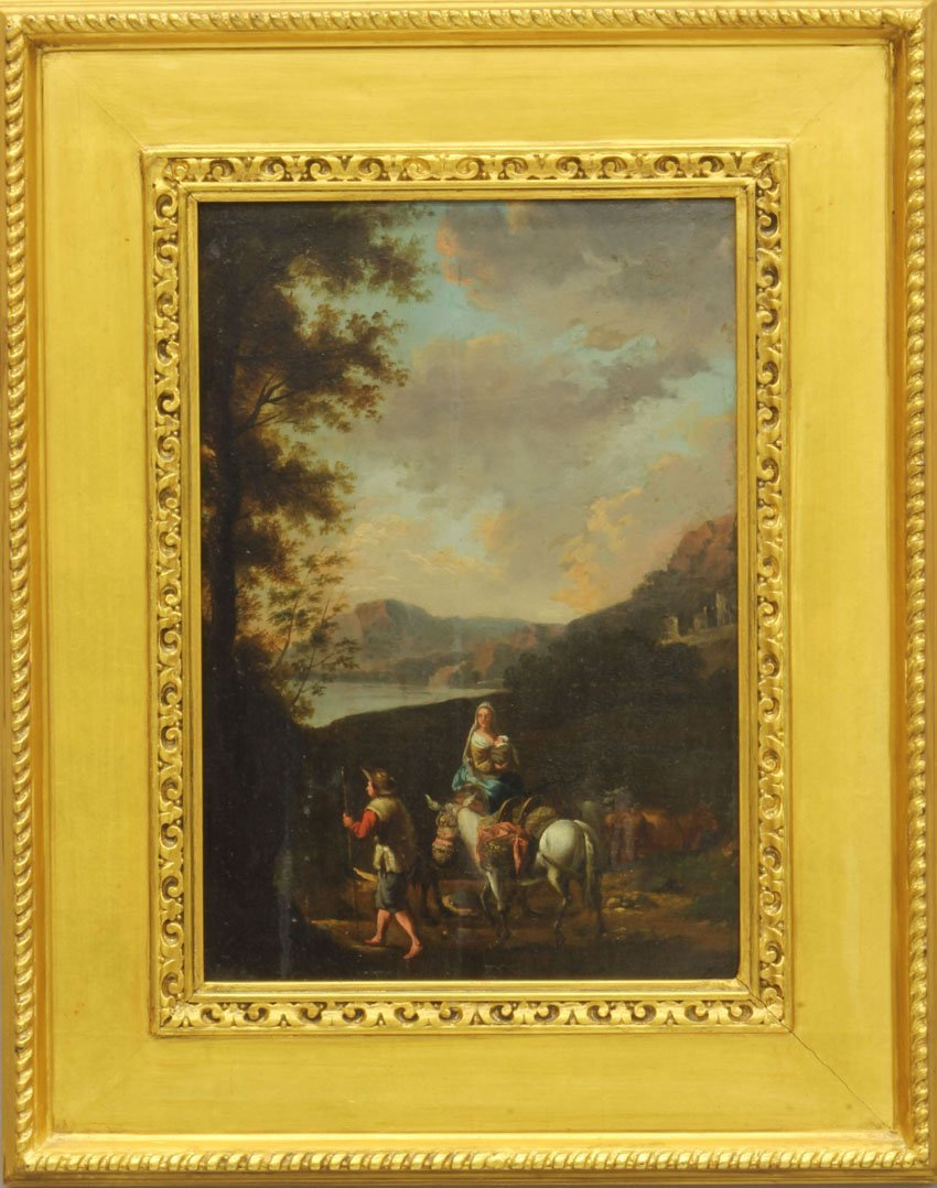 """EARLY CONTINENTAL OIL ON BOARD, Landscape sight- 12"""" x"""