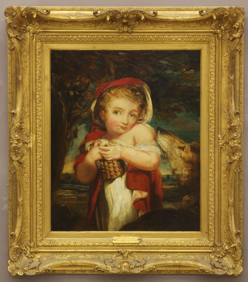 OIL ON BOARD (1769- 1859) Title- Little Red Riding Hoo
