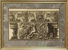 PIRANESI ITALIAN 18TH CENTURY ENGRAVING sight 17 x 27