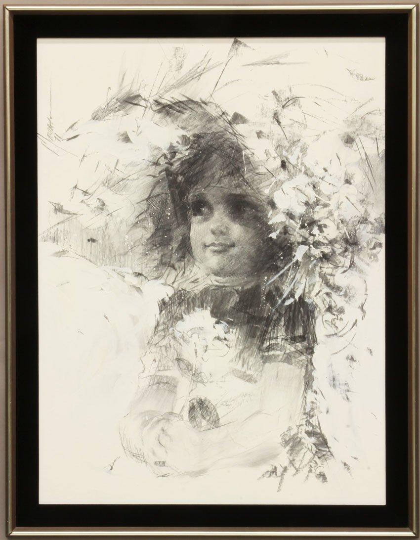ALAN MURRAY, 1971 Oil on Board Portrait of Girl sight-