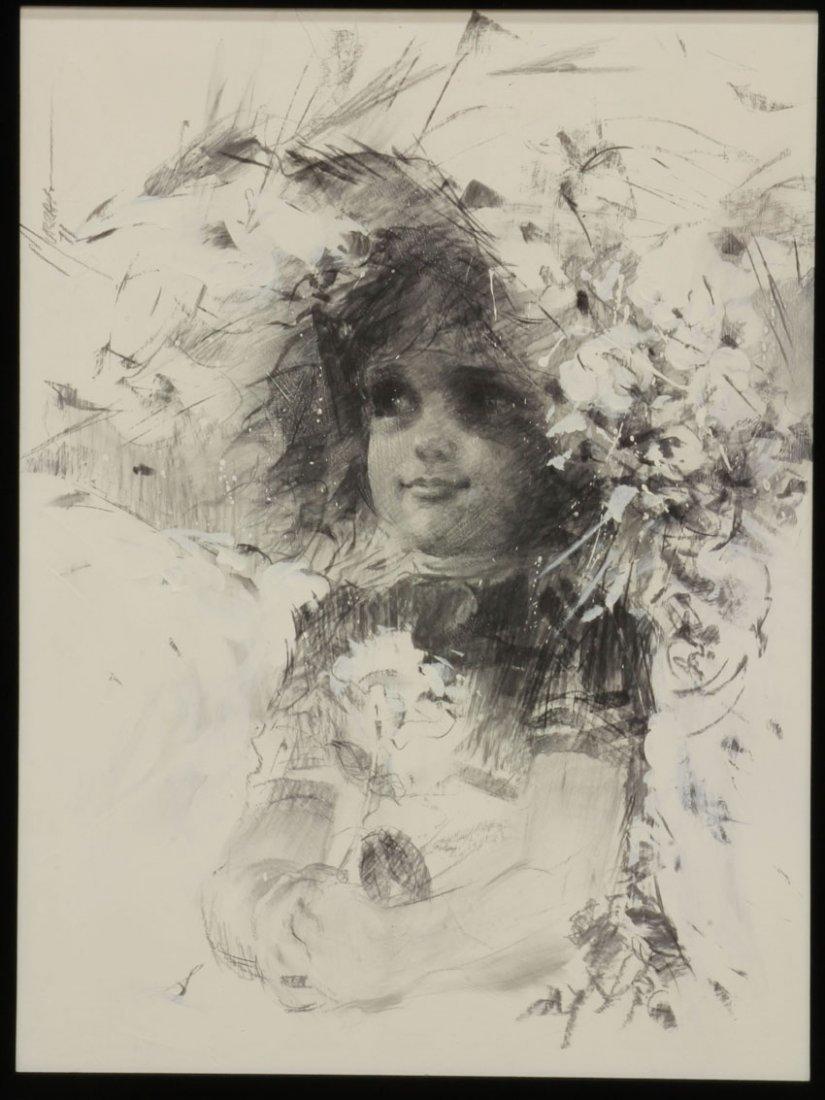 ALAN MURRAY, 1971 Oil on Board Portrait of Girl sight-  - 2