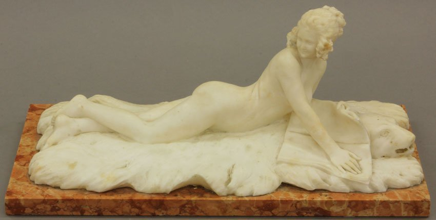 Early 20th Century Carved Alabaster Nude