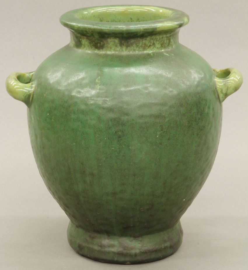 FULPER MAT GREEN VASE circa early 20th century height-