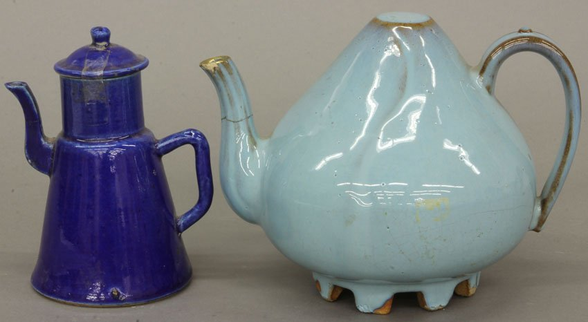 "LOT OF (2) VINTAGE CHINESE TEAPOTS height- 6"", 7"""