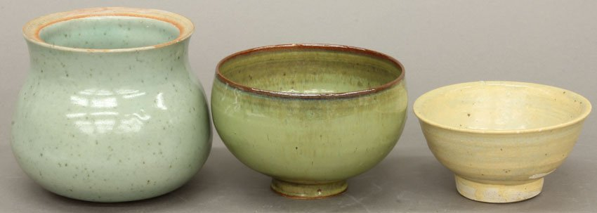 LOT OF (3) CHINESE CELADON BOWLS