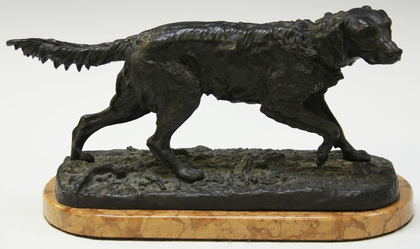 P.J.MENE, BRONZE FIGURE ON MARBLE BASE