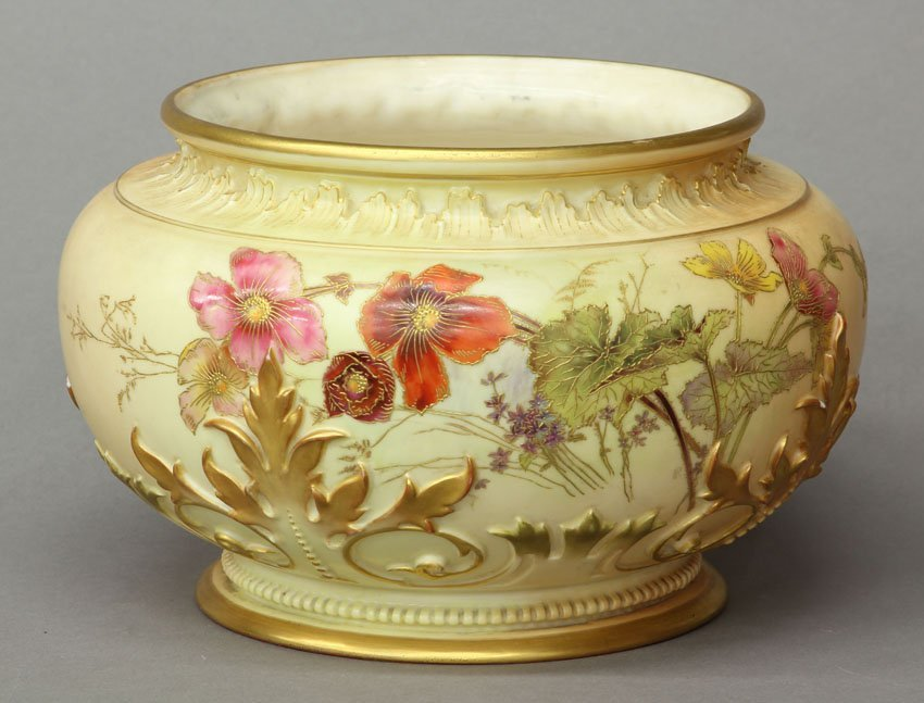 ROYAL WORCESTER PORCELAIN LOW BOWL