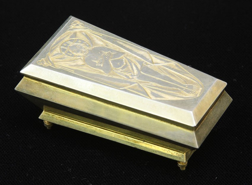 RUSSIAN SILVER GOLD WASHED BOX