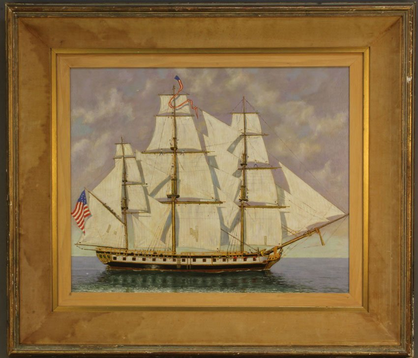 JUDSON, OIL ON CANVAS OF CLIPPER SHIP