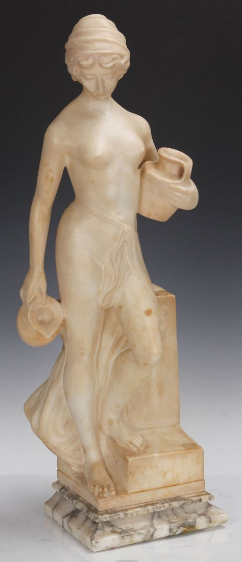 FRENCH FIGURAL MARBLE STATUE