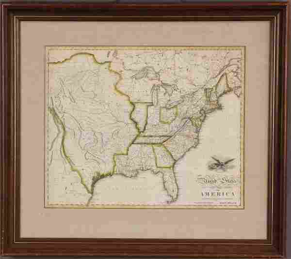 EARLY UNITED STATES MAP, JOHN MELISH