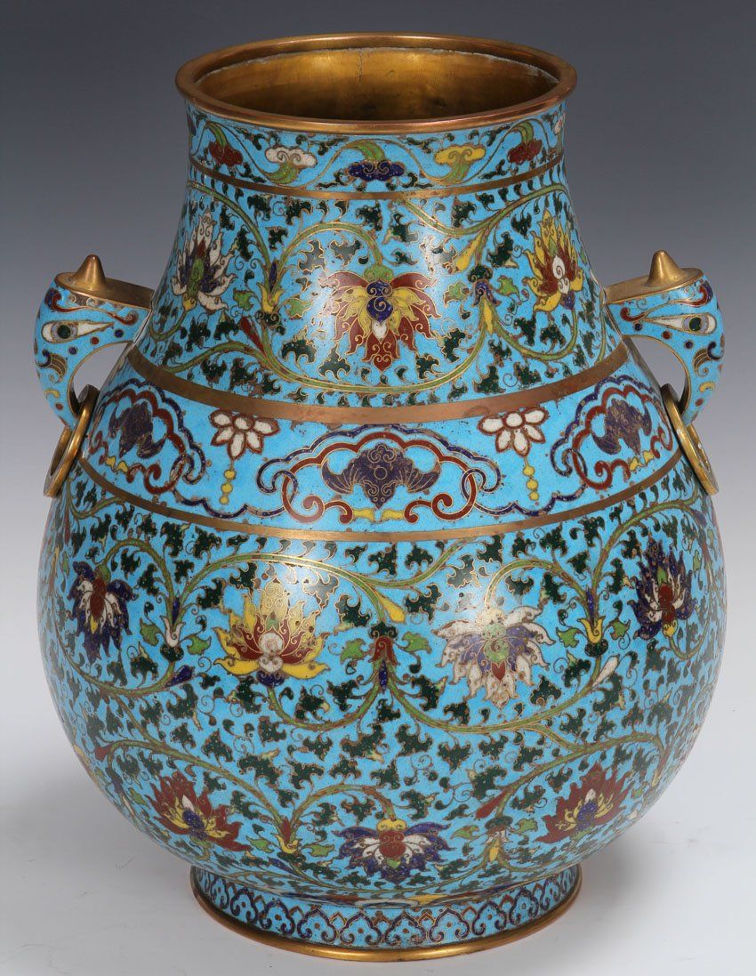 EARLY CHINESE BLUE CLOISONNE