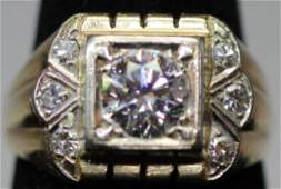 VINTAGE DIAMOND 14KT MAN'S RING