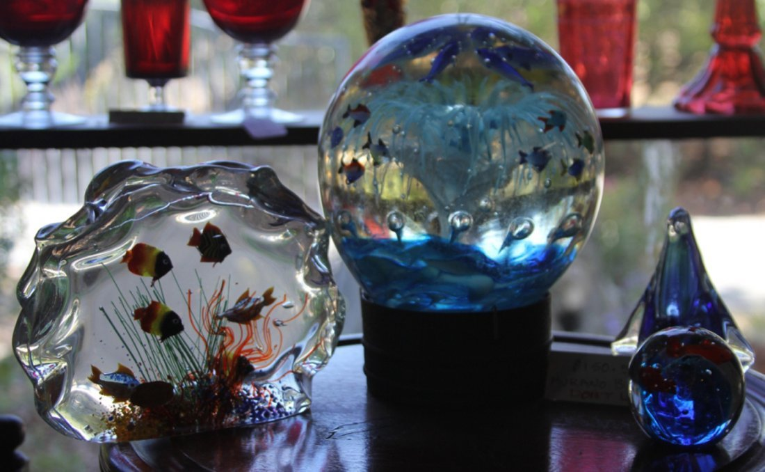LOT OF (4) MURANO GLASS SCULPTURES