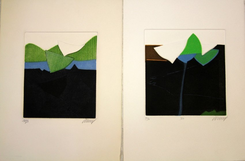 LOT OF (2) BERTRAND DORNY, INTAGLIO PRINTS, 1980