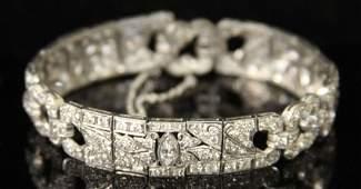 ART DECO PLATINUM DIAMOND LADY'S BRACELET