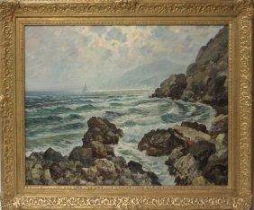 "Mariani, Oil On Canvas Of ""isle Of Capri"""