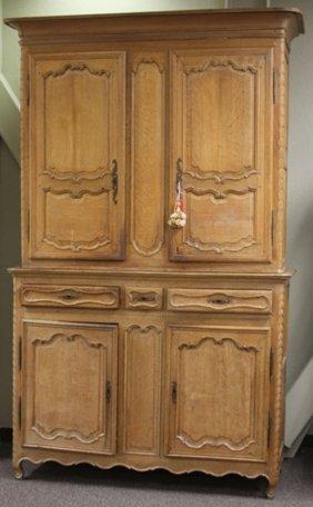 French Provincial Oak 18th Century Buffet & Hutch