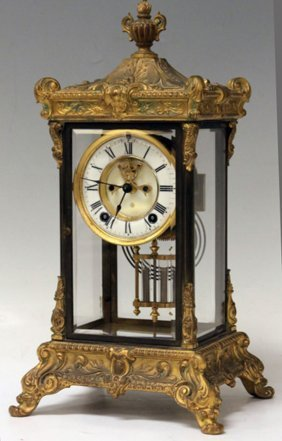 Ansonia Gilt Metal Clock