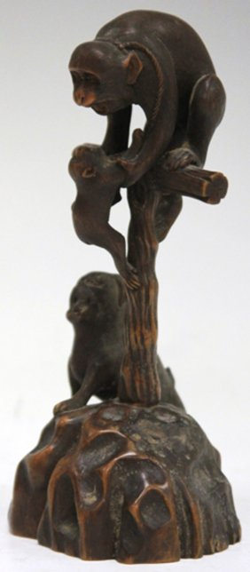 Meiji Period Japanese Carved Wood Sculpture