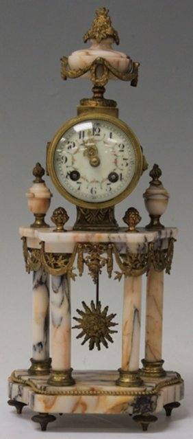French Marble And Gilt Clock