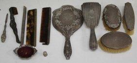 Lot Of (12) Sterling Silver Vanity Set