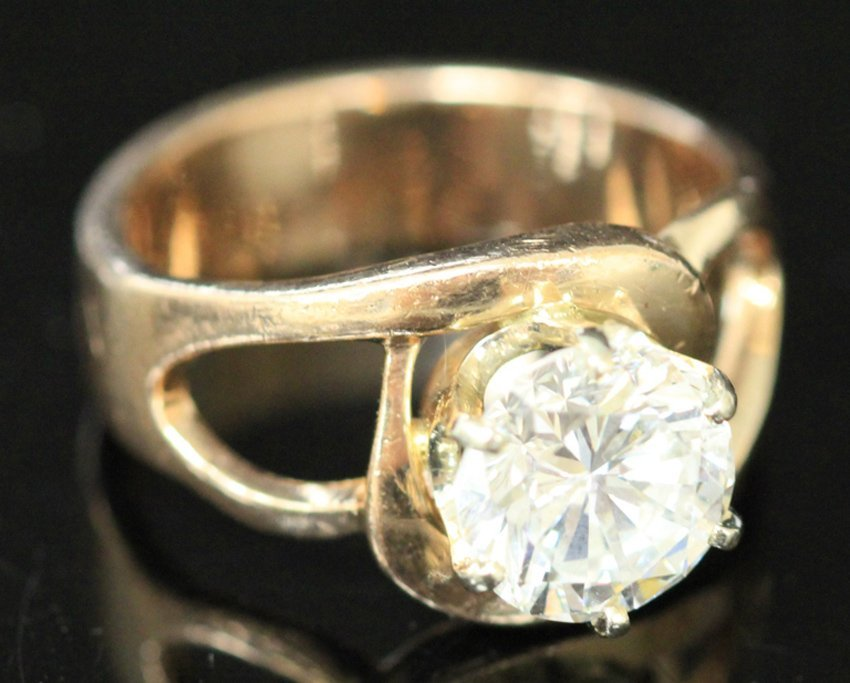 BRILLIANT 2.13 CT. DIAMOND 14KT LADY'S RING