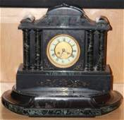 FRENCH VICTORIAN MARBLE MANTLE CLOCK