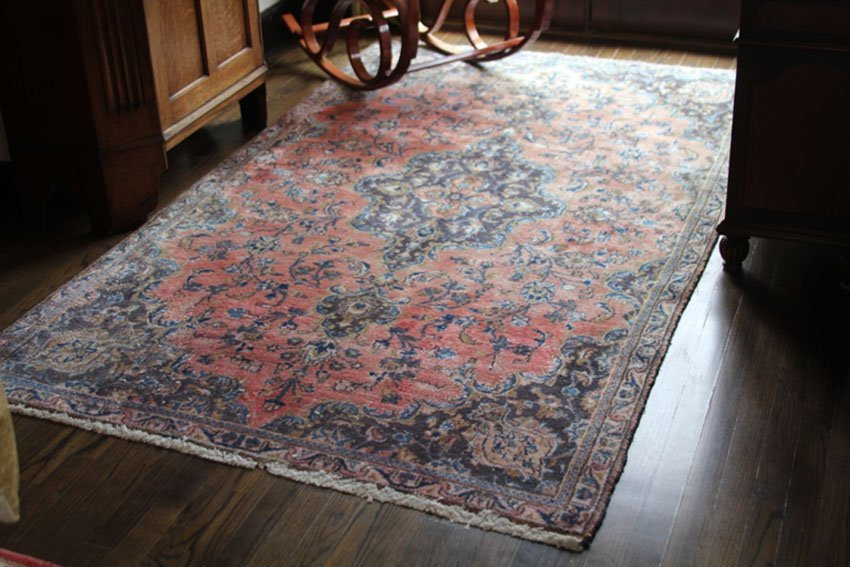 ANTIQUE PERSIAN AREA CARPET