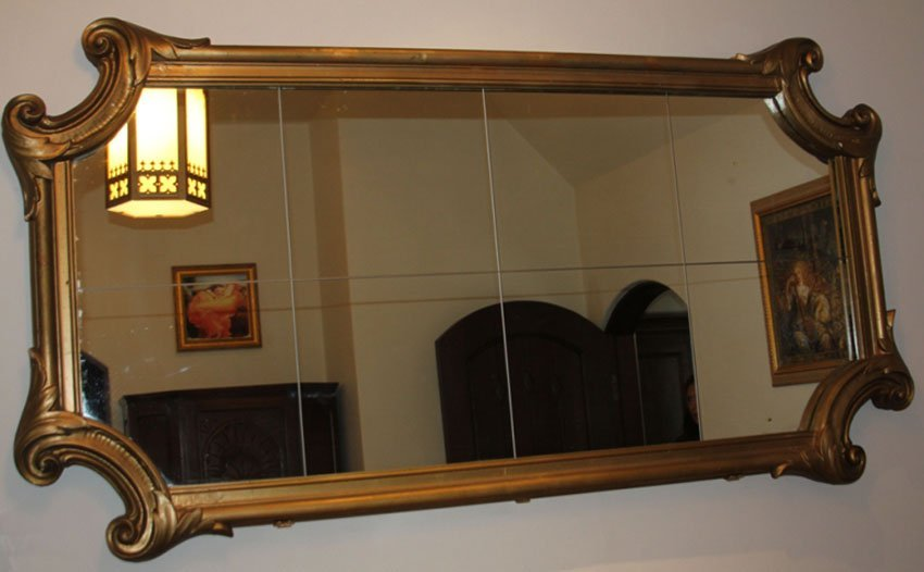 ANTIQUE GESSO WALL MIRROR