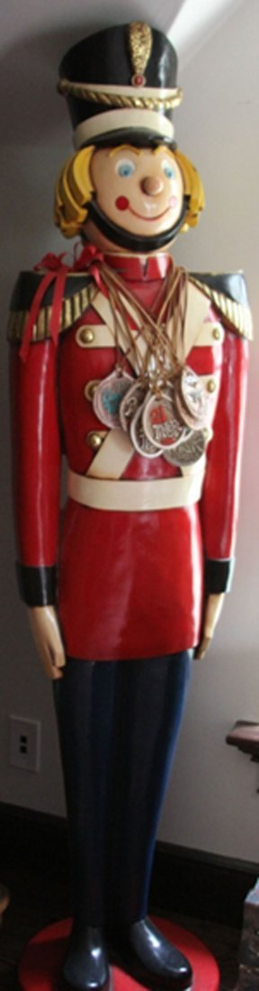 FIBER GLASS STATUE OF TOY SOLDIER