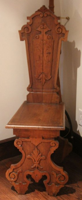 Late 19th Century Carved Walnut Side Chair