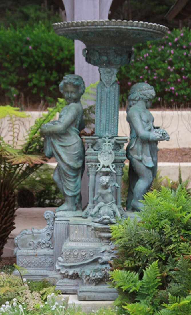 FRENCH STYLE BRONZE GARDEN FOUNTAIN-LIKE FEATURE