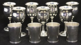 Sterling Silver Goblets & Tumblers- (11) Pcs.