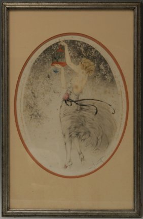 """Louis Icart Etching, """"companions,"""" 1926"""